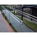 Poręcz na podjazd dla wózków  inwalidzkich ze stali nierdzewnej (kwasoodpornej)